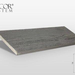 Fassadenverkleidung Platten Grau