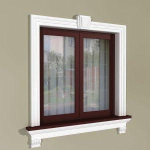 Fensterdekoration an der Fassade - Klassisches Set ZKL2
