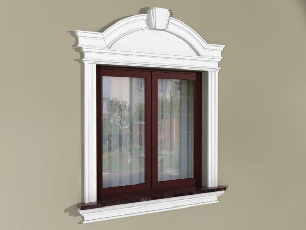 Fensterumrandung Außen - Herrschaftliches Set ZD1