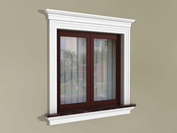 Fensterumrandung Außen - Herrschaftliches Set ZD2