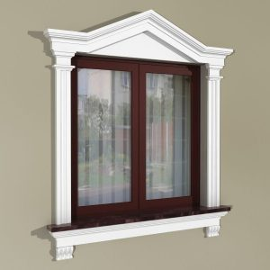 Fensterumrandung Außen - Herrschaftliches Set ZD3