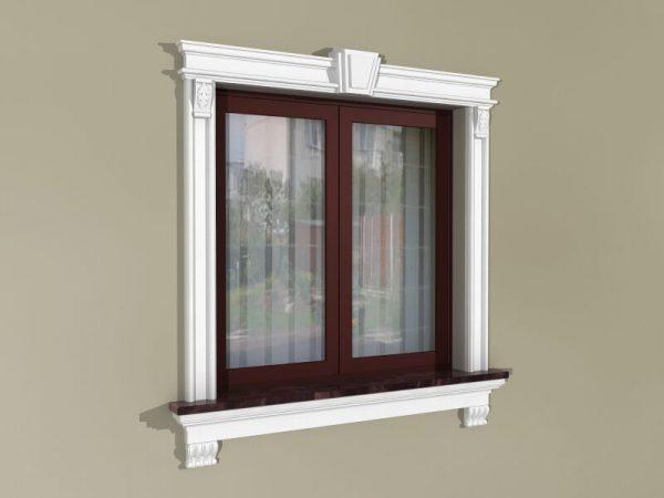 Fensterumrandung Außen - Herrschaftliches Set ZD4