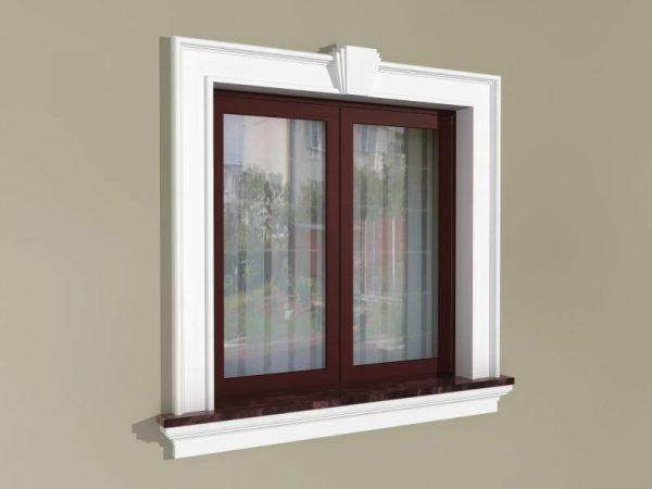 Fensterumrandung Außen - Klassisches Set ZKL1
