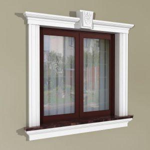 Fensterumrandung Außen - Klassisches Set ZKL3
