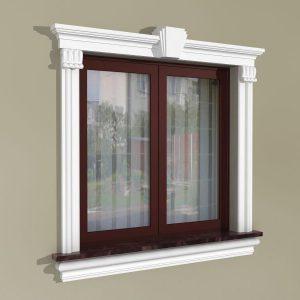 Fensterumrandung Außen - Klassisches Set ZKL4