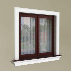 Fensterumrandung Außen - Rustikales Set ZR1