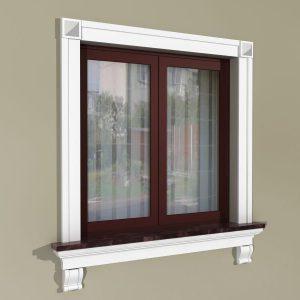 Fensterumrandung Außen - Rustikales Set ZR2