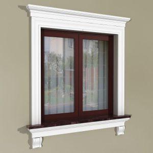 Fensterumrandung Außen - Rustikales Set ZR3