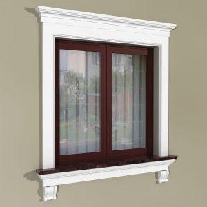 Fensterumrandung Außen - Rustikales Set ZR4